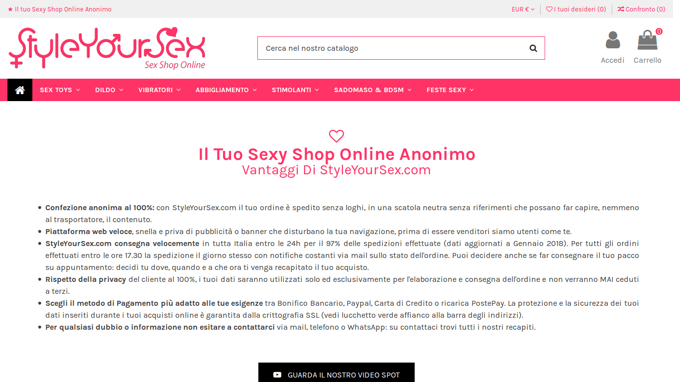 Il Tuo Sexy Shop Online Anonimo - StyleYourSex.com